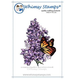 Wimsy Stamps Whimsy Stamps Lilac and butterfly DA1016