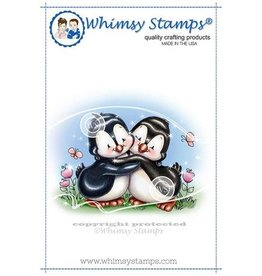 Whimsy Stamps Penguin  Hugs C1277