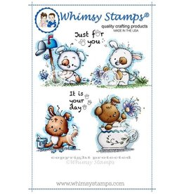 Wimsy Stamps Whimsy Stamps Naughty puppies SZWS150