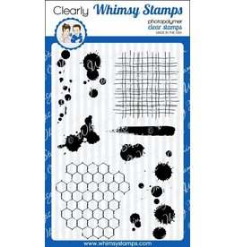 Wimsy Stamps Whimsy Stamps Distressed backgrounds and ink splats CWSD114