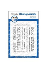 Whimsy Stamps Whimsy stamps Many Thanks  CWSN173
