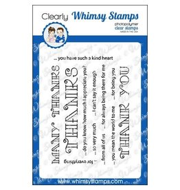 Wimsy Stamps Whimsy stamps Many Thanks  CWSN173
