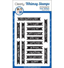 Wimsy Stamps Whimsy Stamps Bold Banners CWSN176