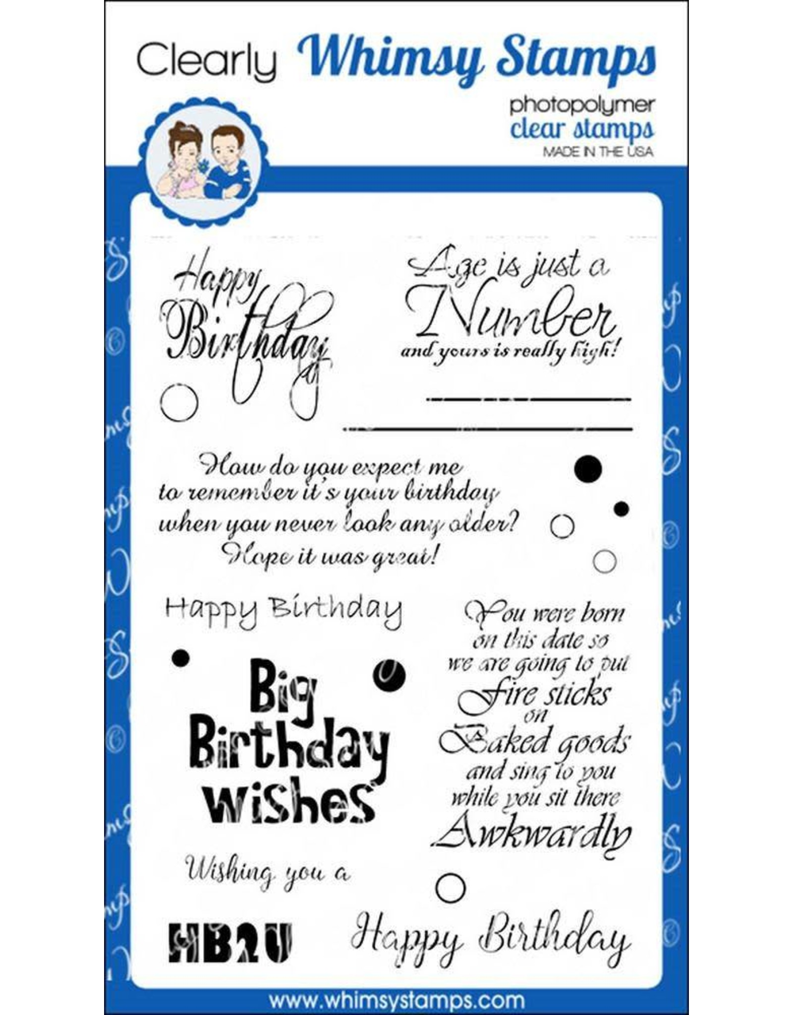 Whimsy Stamps Whimsy Stamps Happy Birthday to you CWSD209