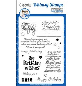Whimsy Stamps Happy Birthday to you CWSD209