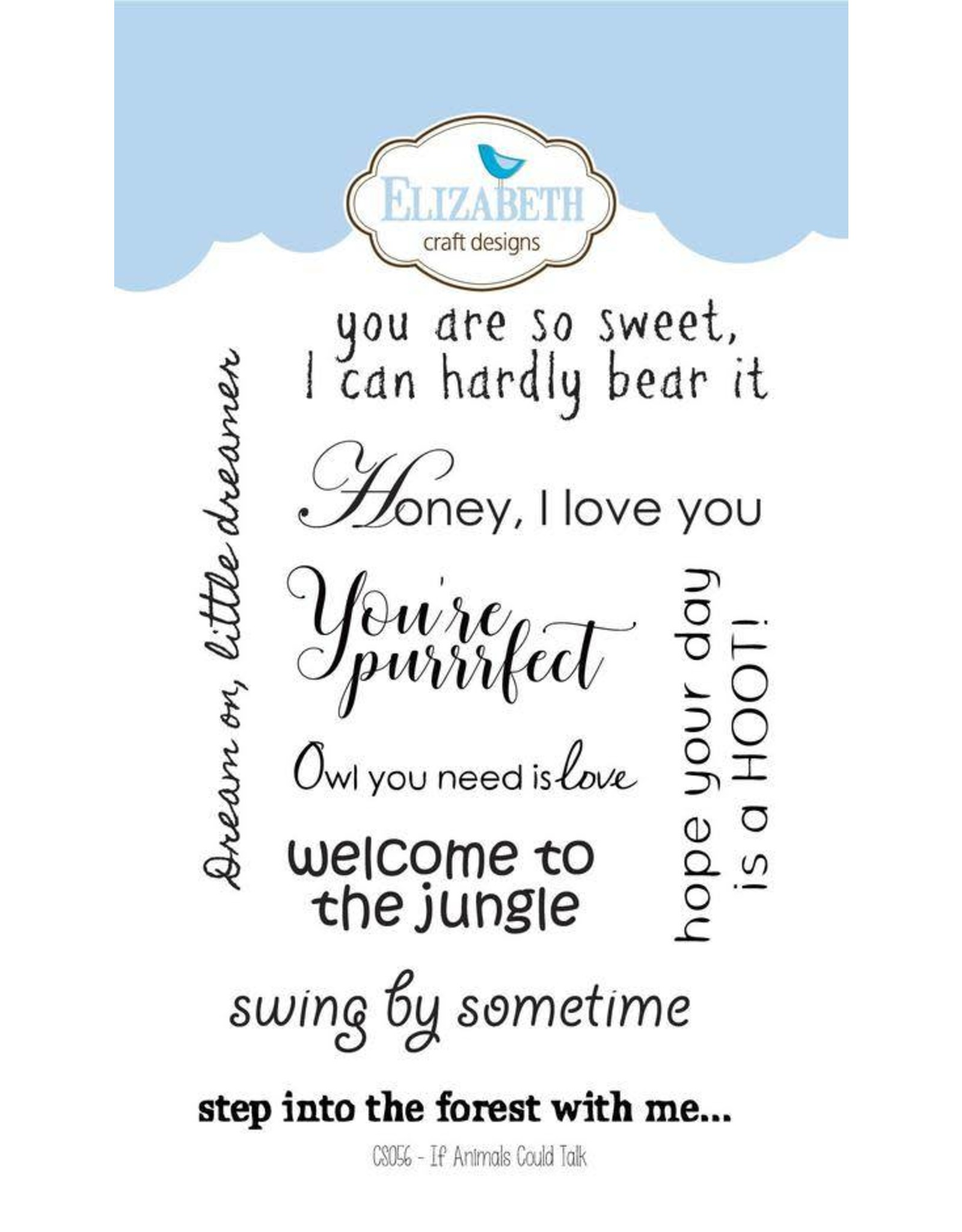 Elizabeth Craft Designs Elizabeth Craft Designs If animals could talk clearstamps CS056