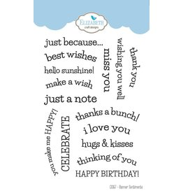 Elizabeth Craft Designs Elizabeth Craft designs clearstamps Banner sentiments CS067