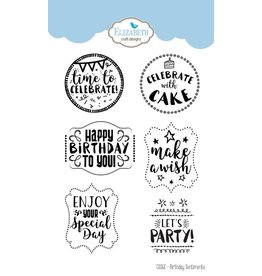 Elizabeth Craft Designs Elizabeth Craft designs clearstamps Birthday sentiments CS068