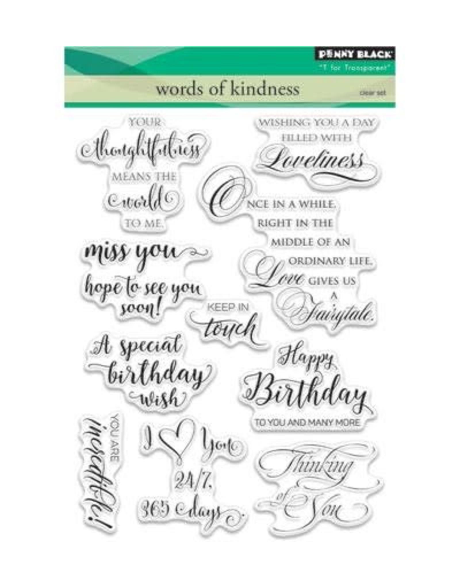 penny black Penny Black Clearstamps set Words of Kindness 30-353