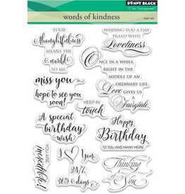 penny black Penny Black Clearstamps set Words of Kindness 30-353