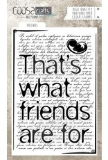 COOSA Crafts Clear Stamps COOSA Crafts clearstamps A6 - Friends (Eng)
