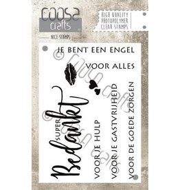 COOSA Crafts Clear Stamps COOSA Crafts clearstamps A7 - Bedankt A7 (NL)
