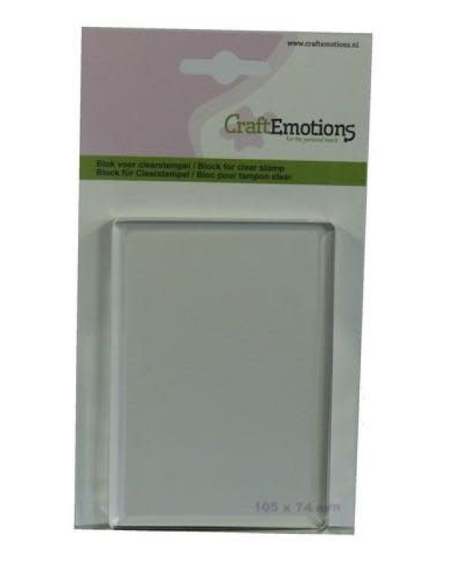 Craft Emotions CraftEmotions blok voor clearstempel 105x74mm - 8mm