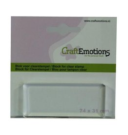 Craft Emotions CraftEmotions blok voor clearstempel 74x31mm - 8mm
