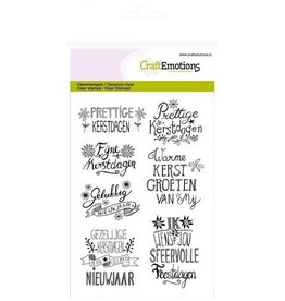 Craft Emotions CraftEmotions clearstamp A6 - kerst handlettering