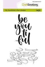 Craft Emotions CraftEmotions clearstamps A6 -  handletter -  be you ti ful (Eng)