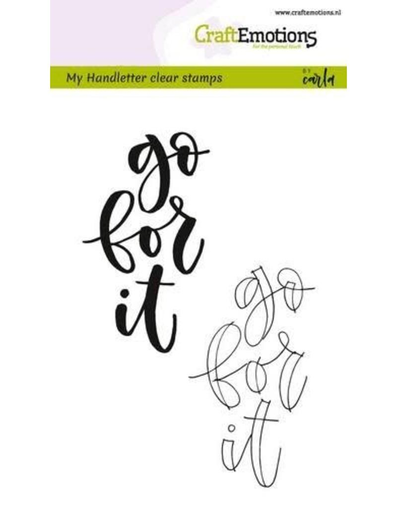 Craft Emotions CraftEmotions clearstamps A6 -  handletter - go for it (Eng)
