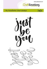 Craft Emotions CraftEmotions clearstamps A6 -  handletter - just be you (Eng)
