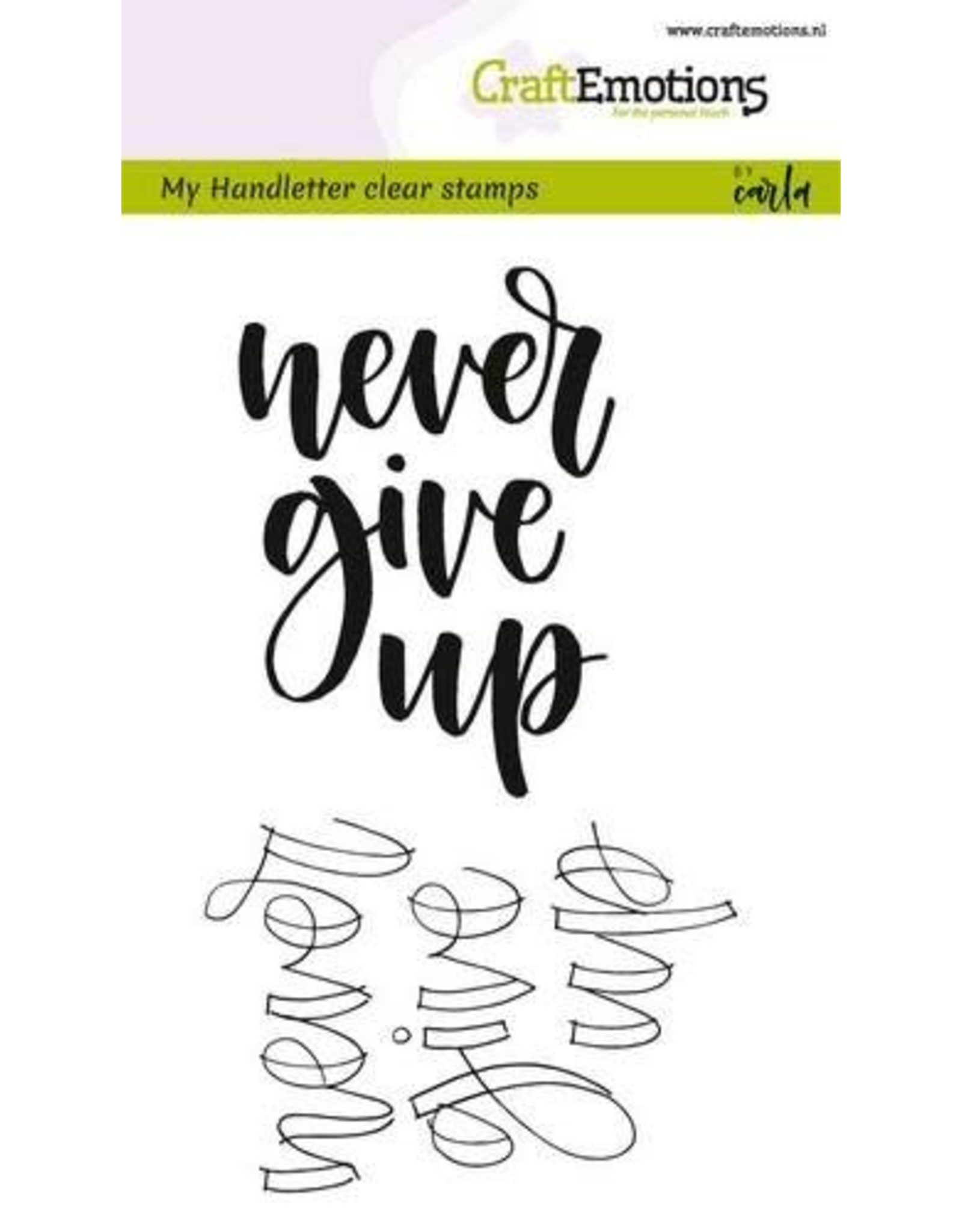 Craft Emotions craftemotions clearstamps a6-handletter-nevergiveup eng