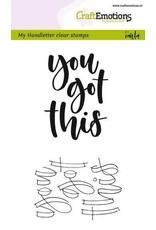 Craft Emotions CraftEmotions clearstamps A6 -  handletter - you got this (Eng)