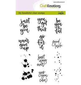 Craft Emotions CraftEmotions clearstamps A6 -  handletter Sm - diverse (Eng)