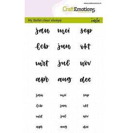 Craft Emotions CraftEmotions clearstamps A6 - Bullet Journal - maanden 5-10mm (NL)