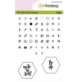 Craft Emotions CraftEmotions clearstamps A6 - Bullet Journal - tekens 5mm