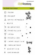 Craft Emotions CraftEmotions clearstamps A6 - Bullet Journal - tekens en tekst 5mm (Eng)
