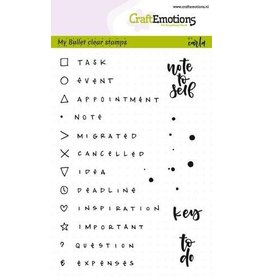 Craft Emotions CraftEmotions clearstamps A6 - Bullet Journal - tekens en tekst 5mm (Eng)