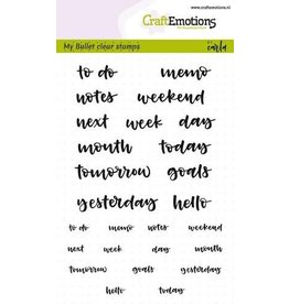 Craft Emotions CraftEmotions clearstamps A6 - Bullet Journal - tekst agenda 5-10mm (Eng)