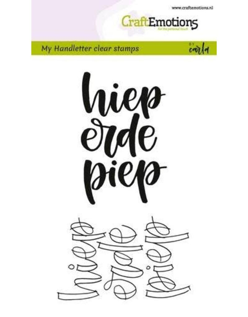 Craft Emotions CraftEmotions clearstamps A6 - handletter - hieperdepiep (NL)