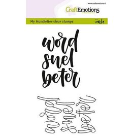 Craft Emotions CraftEmotions clearstamps A6 - handletter - word snel beter (NL)