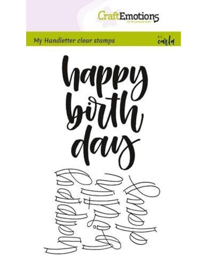 Craft Emotions CraftEmotions clearstamps A6 - happy birth day (Eng)