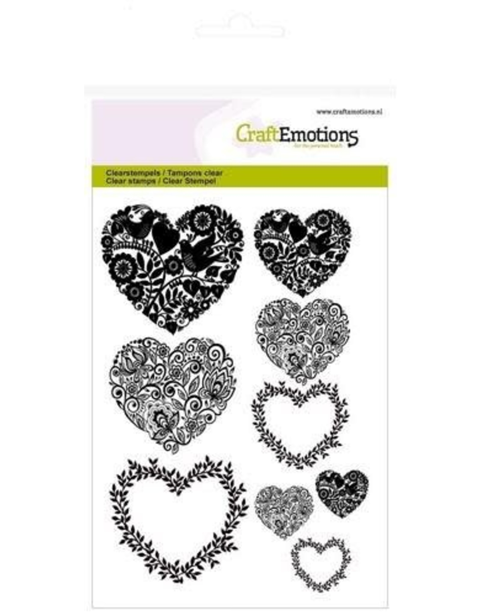 Craft Emotions CraftEmotions clearstamps A6 - harten