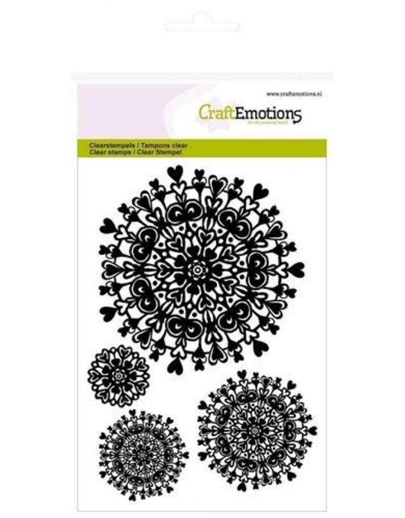 Craft Emotions CraftEmotions clearstamps A6 - mandala hart