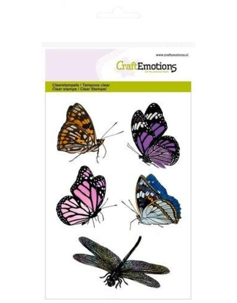 Craft Emotions CraftEmotions clearstamps A6 - vlinders. libelle