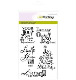 Craft Emotions CraftEmotions clearstamps A6 -tekst NL Lieve groetjes van mij