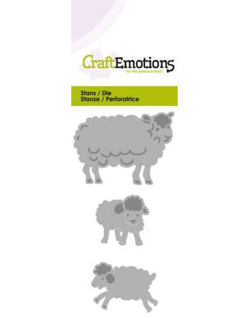 Craft Emotions CraftEmotions Die -  schaap met lammetjes fantasie