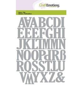 Craft Emotions CraftEmotions Die - alfabet hoofdletters