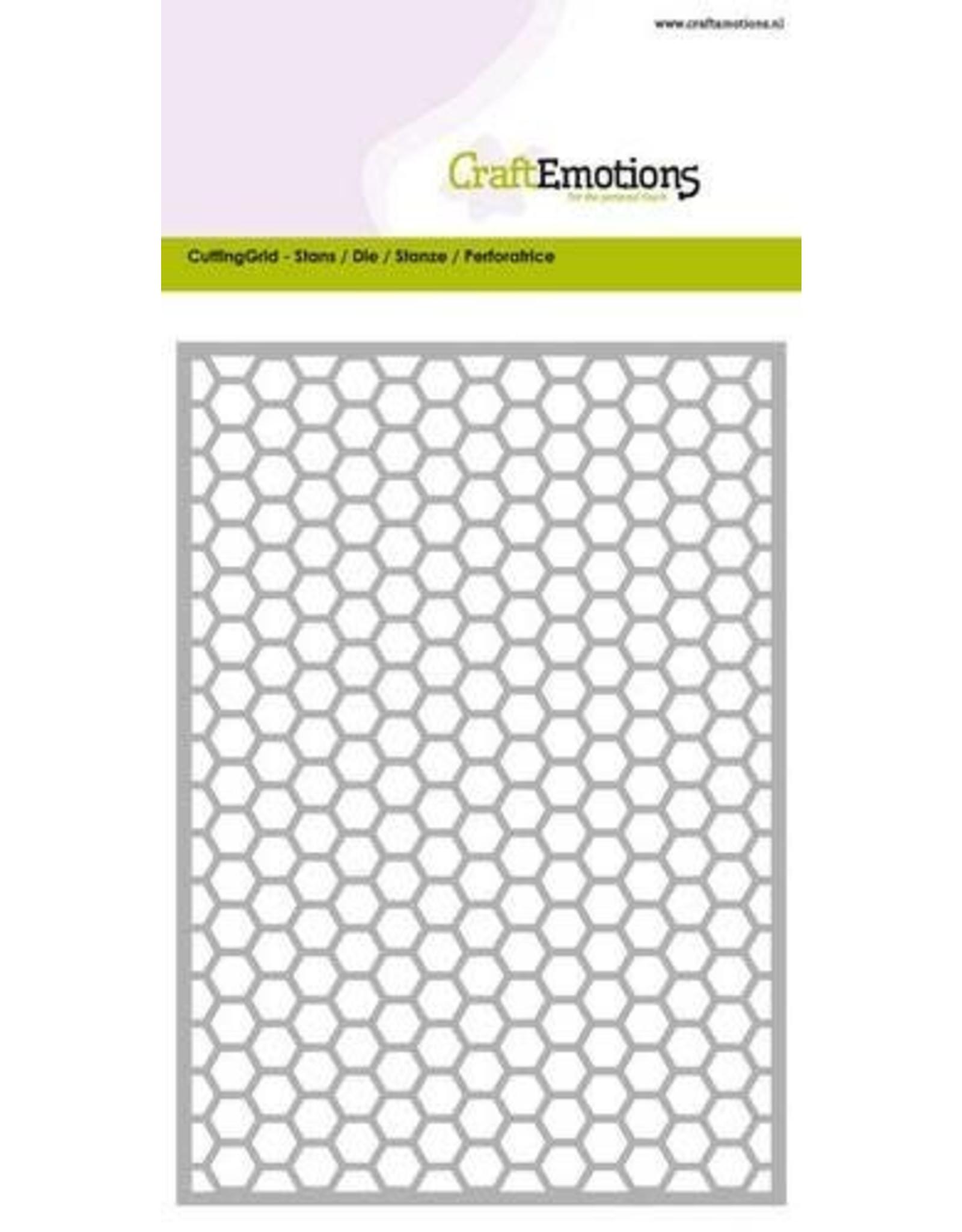 Craft Emotions CraftEmotions Die - Cutting Grid - honingraat