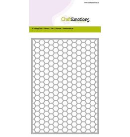 Craft Emotions CraftEmotions Die - Cutting Grid - honingraat