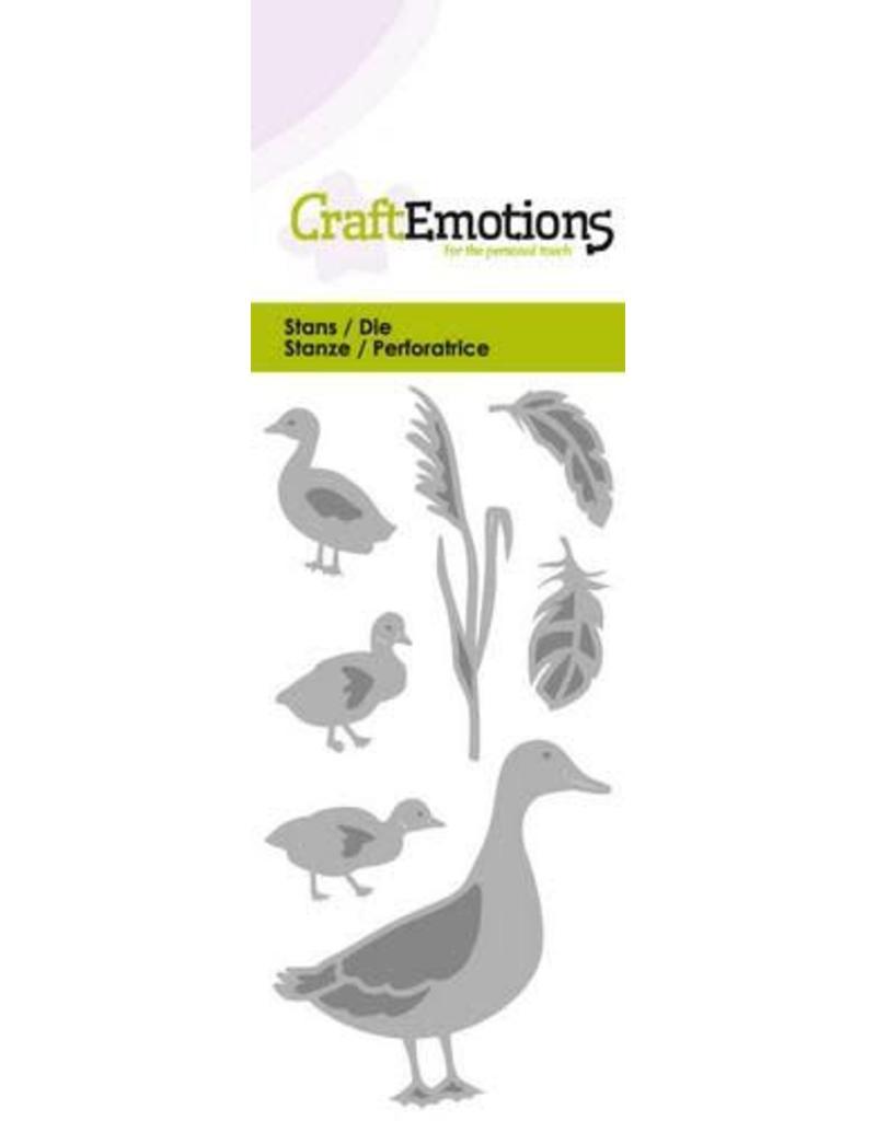 Craft Emotions CraftEmotions Die - eend met kleine eendjes