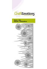 Craft Emotions CraftEmotions Die - grasrand met madeliefjes