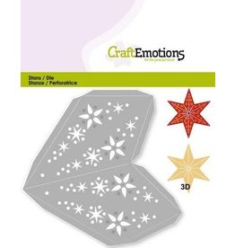 Craft Emotions CraftEmotions Die - kerstversiering ster 3D 15.5 cm
