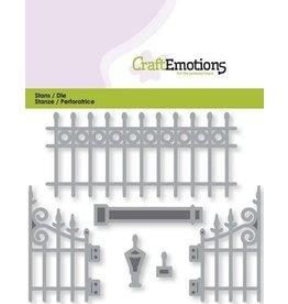 Craft Emotions CraftEmotions Die - metalen tuinhek nostalgisch groot
