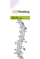 Craft Emotions CraftEmotions Die - muzieknoten balk