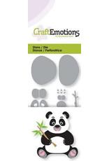 Craft Emotions CraftEmotions Die - panda met bamboetak 3D