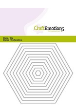 Craft Emotions CraftEmotions Die - randen recht Hexagon