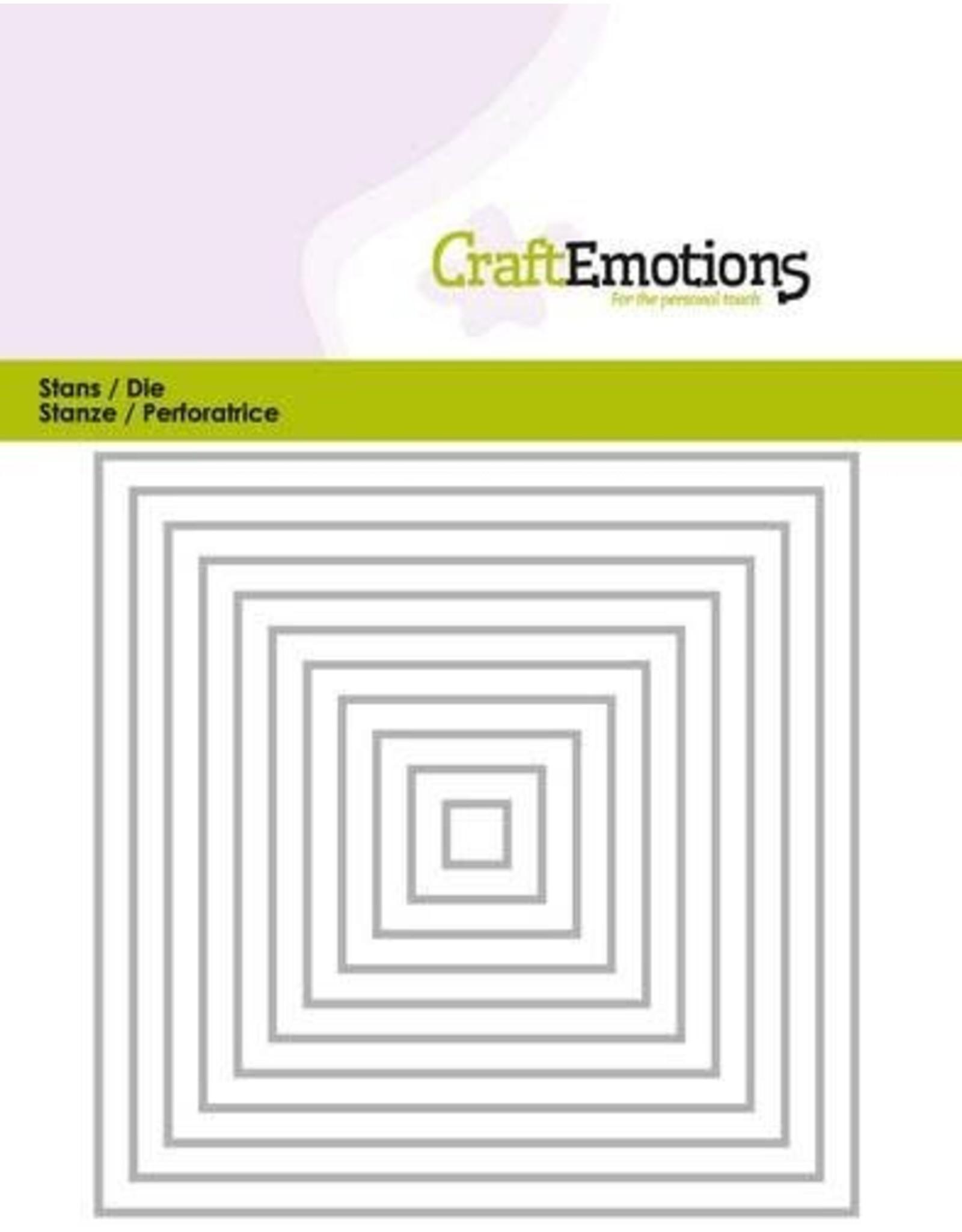 Craft Emotions CraftEmotions Die - randen recht vierkant