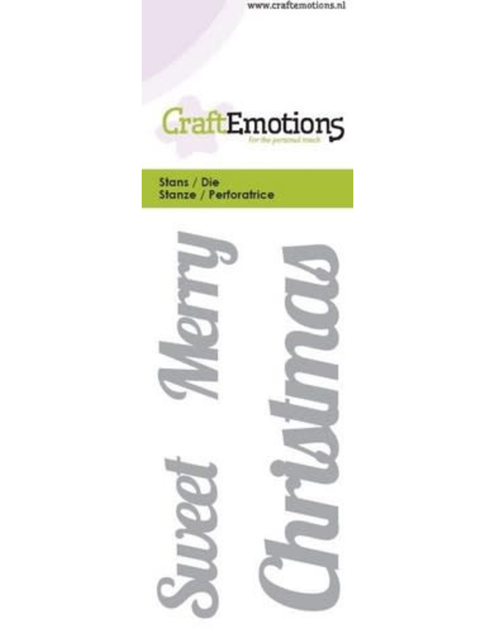 """Craft Emotions CraftEmotions Die - tekst """"Sweet Merry Christmas"""""""